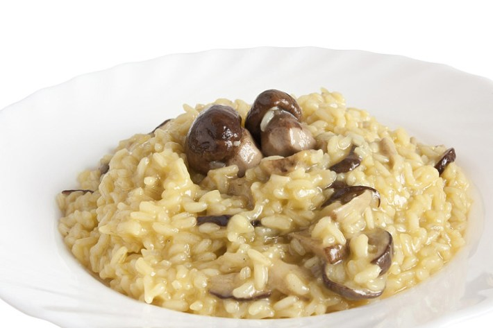 Risotto with porcini mushrooms and Pecorino cheese