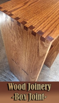 Wood Joinery – Box Joint
