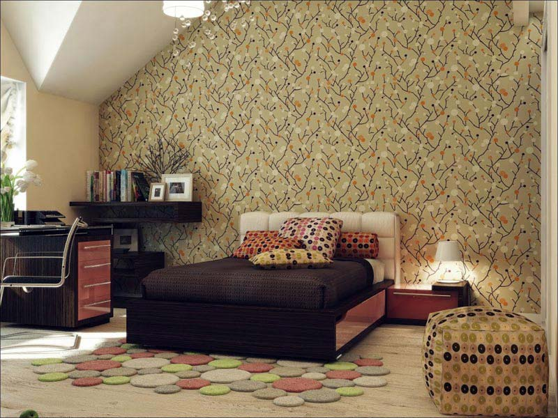 Quiet Corner:Beautiful Wallpaper Designs For Bedroom - Quiet Corner