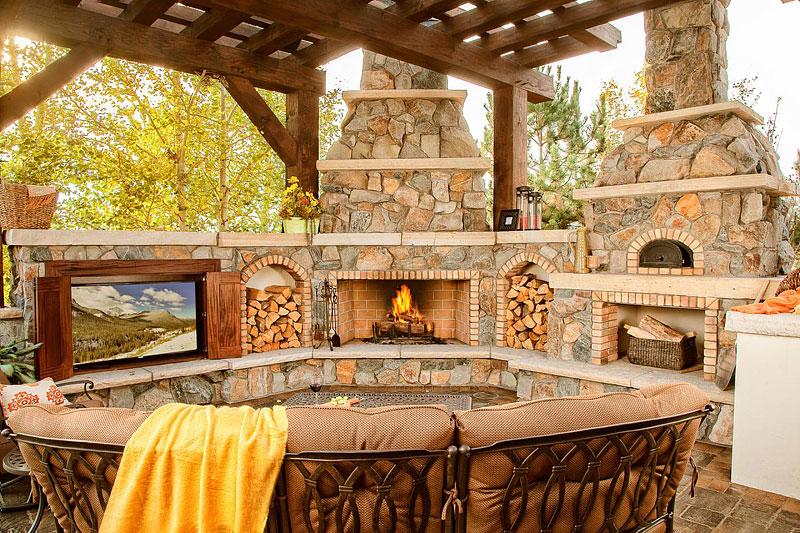 Outdoor Fireplace Ideas Part - 29: Inspiring Outdoor Fireplace Ideas ...