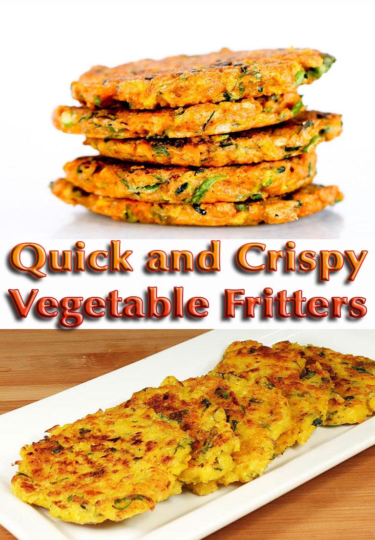 Quick and Crispy Vegetable Fritters - Quiet Corner