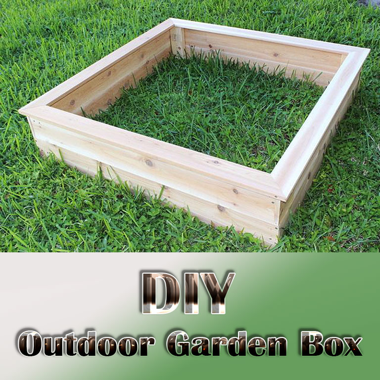 Quiet Corner Container Gardening Ideas: Outdoor Garden Box