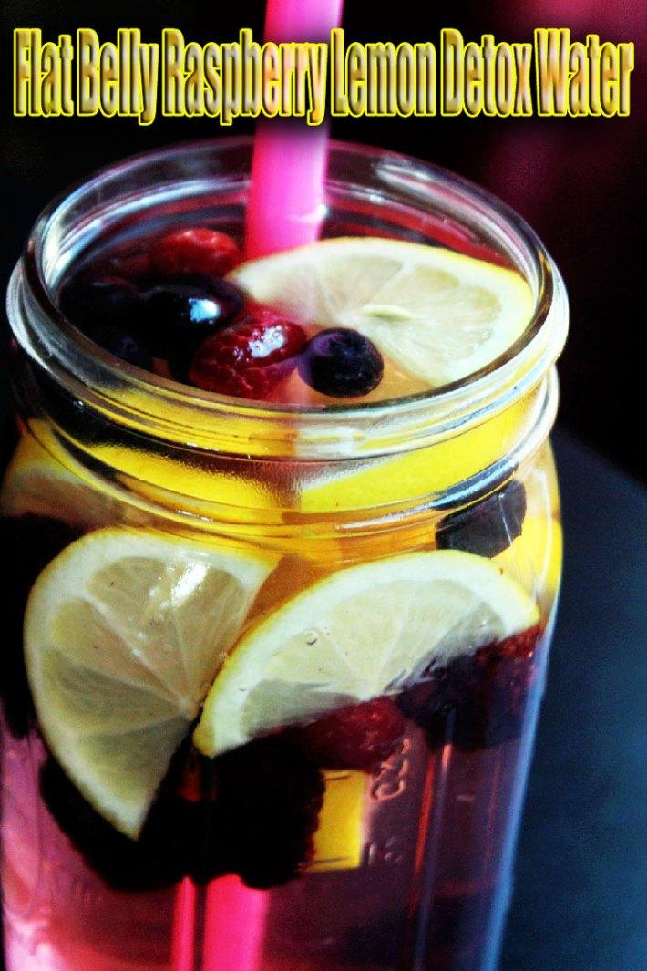 Quiet Corner Flat Belly Raspberry Lemon Detox Water Recipe