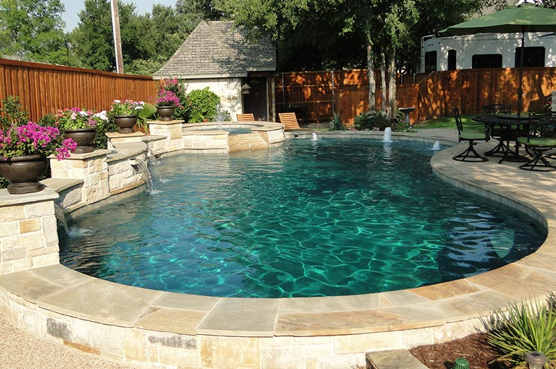Quiet Corner:Free Form Pool Designs Ideas - Quiet Corner