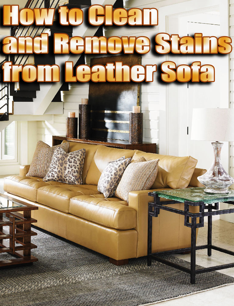 How to Clean and Remove Stains from Leather Sofa - Quiet Corner