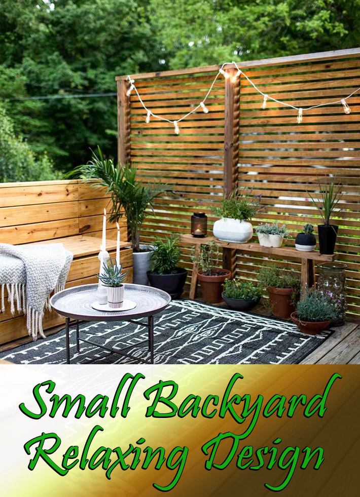 Small Backyard Relaxing Design - Quiet Corner