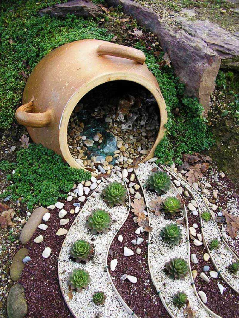 Quiet corner easy diy garden projects with stones quiet for Idea de deco garden rockery