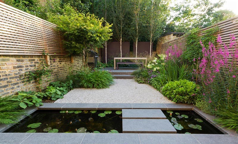 Quiet Corner:Sloping Garden Design Ideas - Quiet Corner on steep garden ideas, down for a slope garden ideas, sloped garden landscaping ideas, vegetable garden ideas, rock garden ideas, hillside garden ideas,