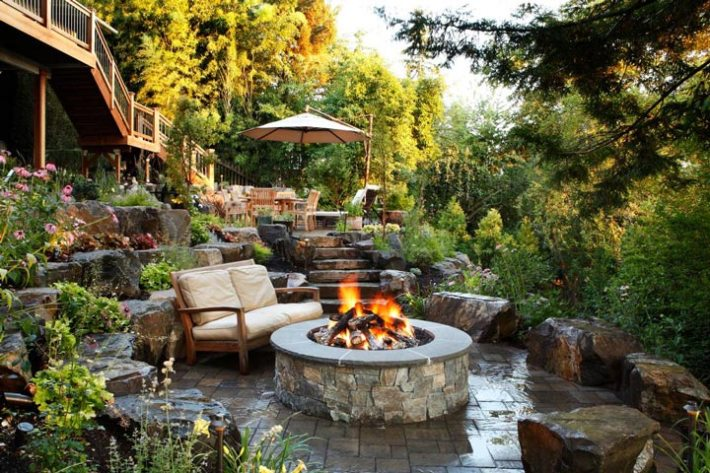 sloping garden design ideas - Landscape Design Ideas Pictures