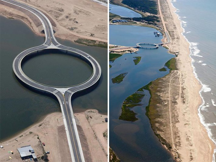 Circular Bridge Built To Slow Down Drivers So That They Would Enjoy The View