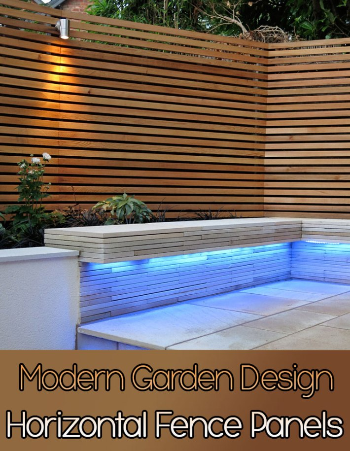 Quiet Corner:Horizontal Fence Panels: Modern Garden Design Ideas ...
