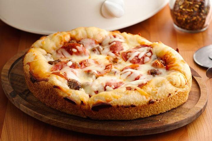Crock Pot Pizza Casserole Recipe - Quiet Corner