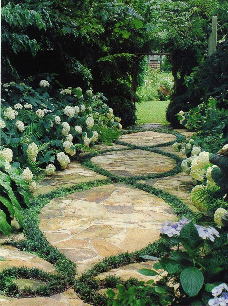Beautiful Garden Paths Made of Natural Stone - Quiet Corner