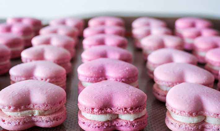 Heart Macarons for Valentines Day