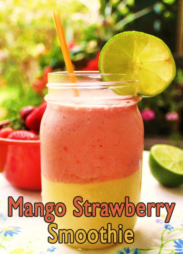 Healthy Mango Strawberry Smoothie