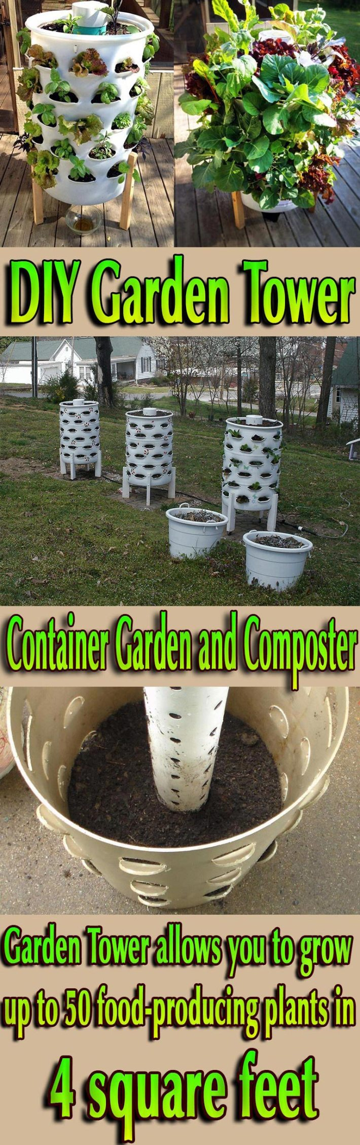 DIY Garden Tower – Container Garden and Composter