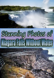 Stunning Photos of Niagara Falls Without Water