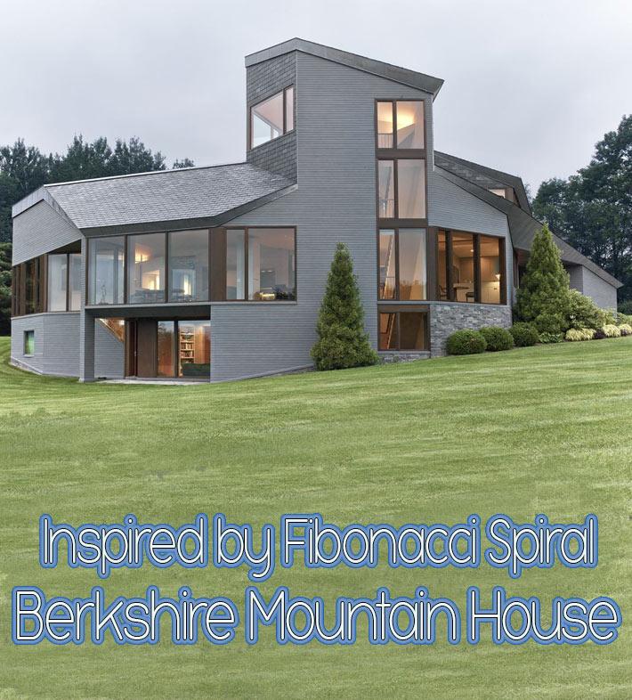 Berkshire Mountain House in Massachusetts Inspired by Fibonacci Spiral