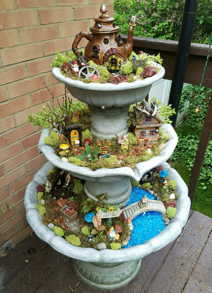 Quiet Corner:Fairy Garden In Container