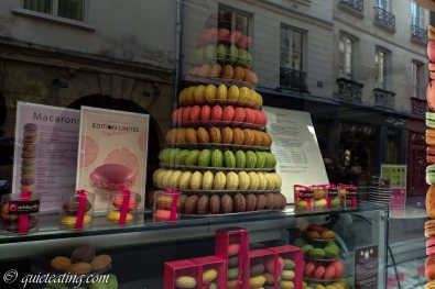 The next day discovering the delights of Paris, such as a macaroon tower
