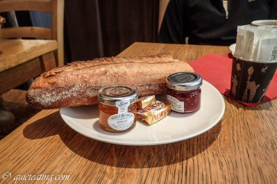Yet to off set the richness, a plain baguette