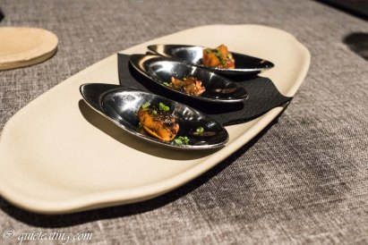 Mussels. The start of the meal at Lakasa, probably our best in Madrid