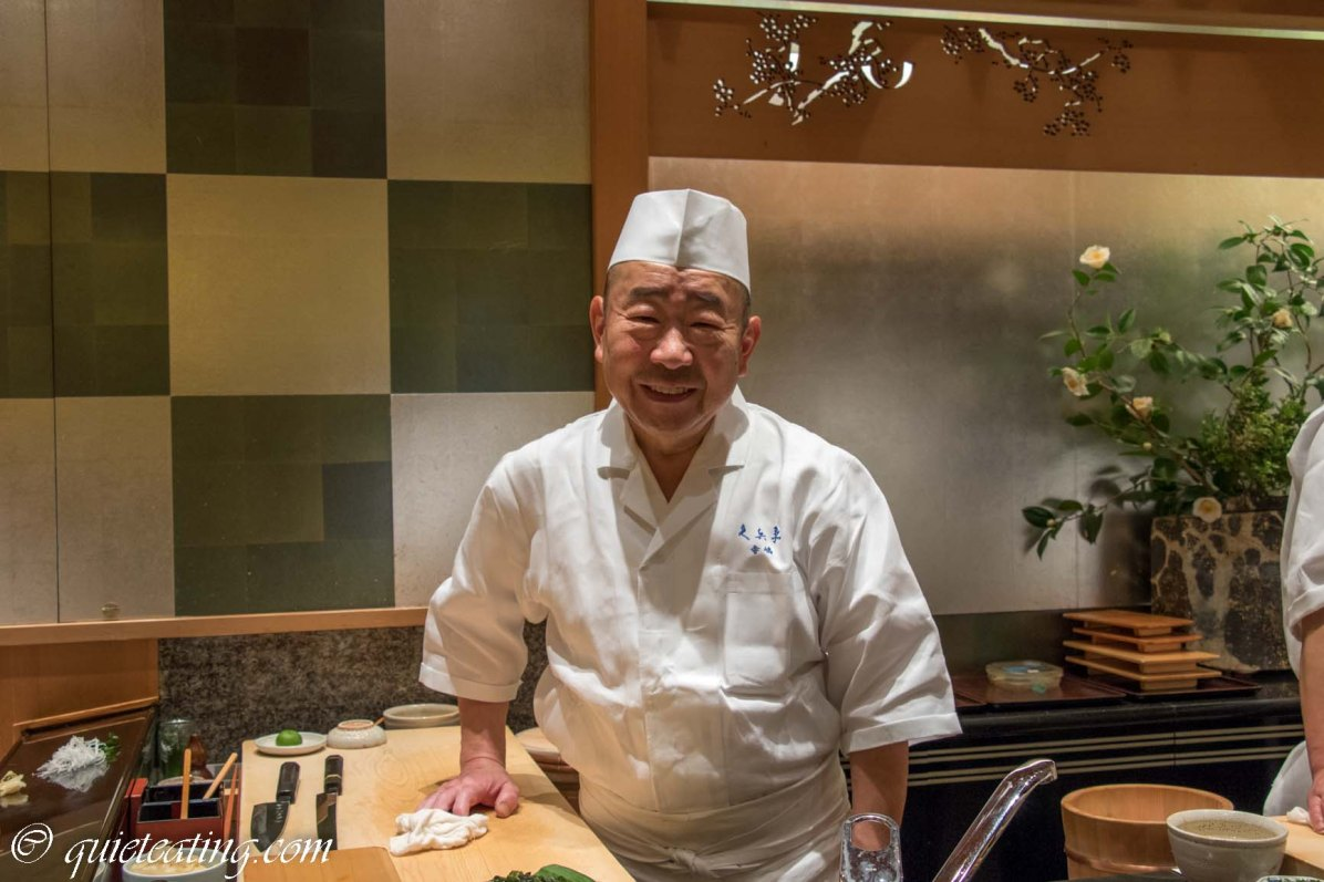 Our excellent chef - this is what a three Michelin star sushi restaurant is like