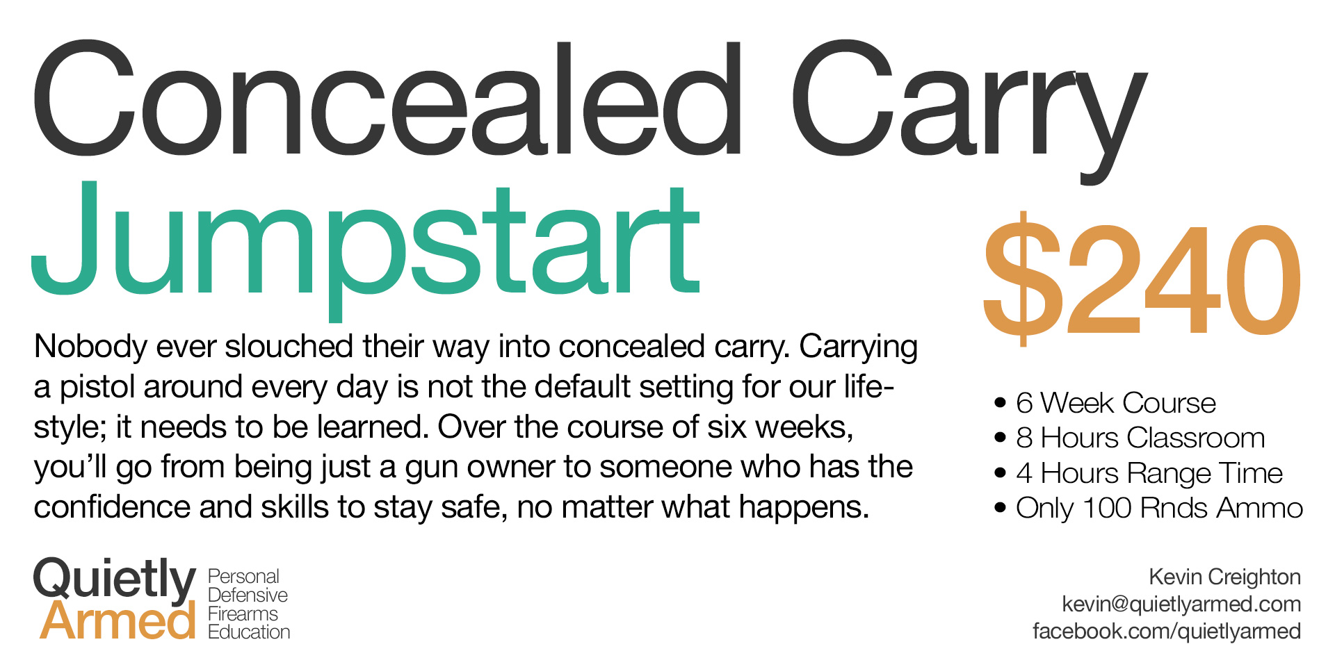 New Class – Concealed Carry Jumpstart