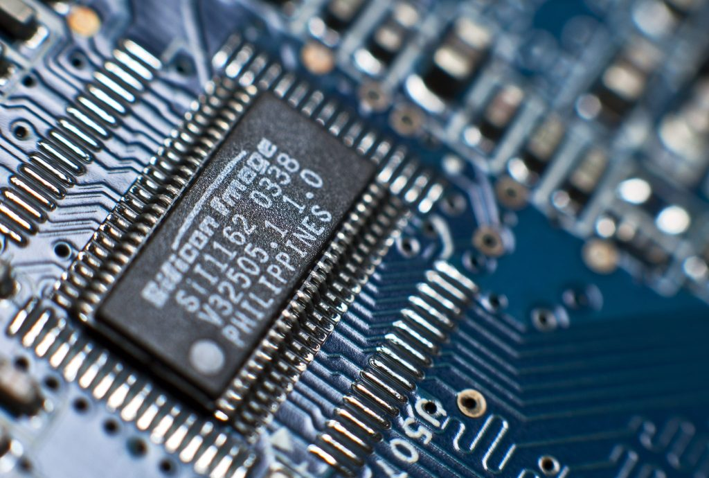 A computer circuit board.