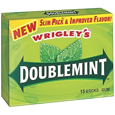 Wrigleys Slim Pack Doublemint Gum 15 SticksPK 10
