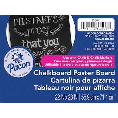 pacon half size sheet poster board 14 x 22 assorted