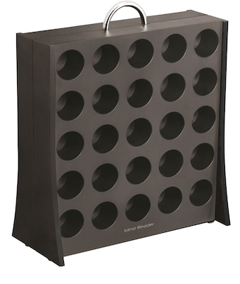 mind reader the wall coffee pod display rack for 50 k cup black rac3pc blk