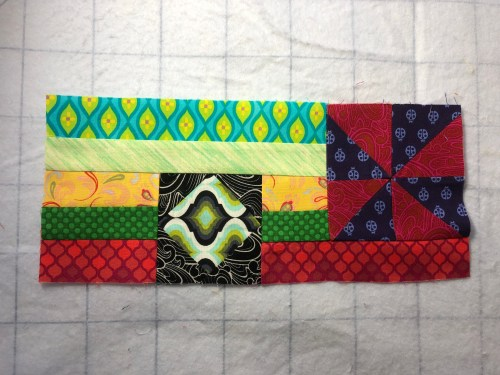 This photo shows the furthest right segment of Section One in the Gypsy Wife Quilt.