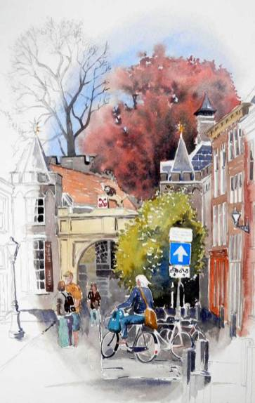 Cycling Leiden II, Netherlands, Sold
