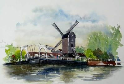 Windmill, Leiden, Netherlands sold