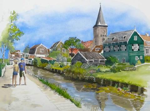 Spring in Marken, Netherlands, sold