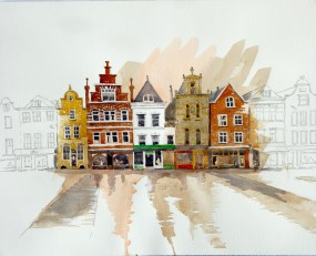 After the rain, Delft, Netherlands, Sold