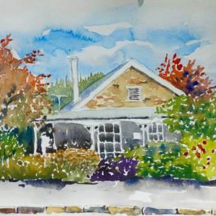 Cottage Ophir, $155 framed