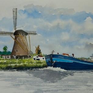 Canal scene near Amsterdam, Sold