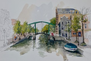 Canal,Leiden, Netherlands, SOLD