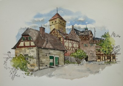 Schloss Nuremburg, . $375 framed