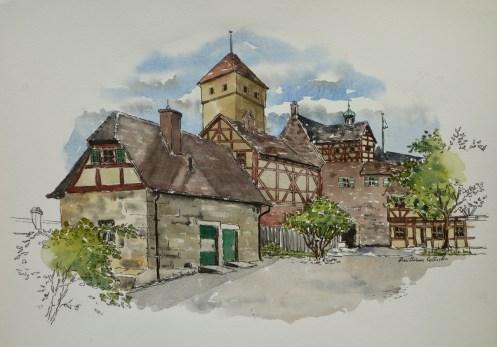 Schloss Nuremburg, . $375 framed