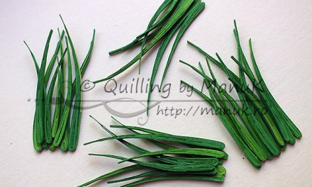 Paper Quilled Grass Tutorial