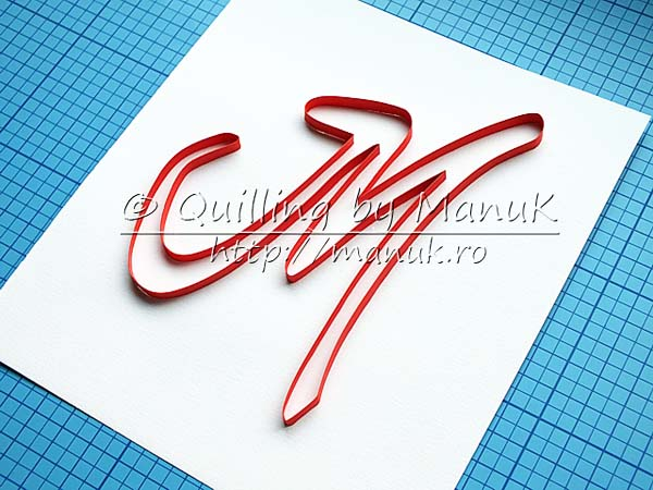 paper quilling typography outline tutorial