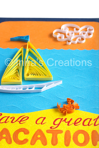 sailboat and crab greeting card tutorial