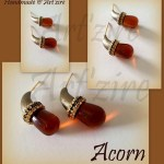 Paper Quilled Acorn Stud Earrings Tutorial