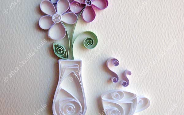 Tutorial for Paper Quilling Teacup and Vase