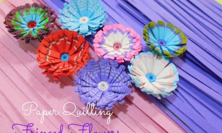 Tutorial for Colorful Paper Quilling Fringed Flowers