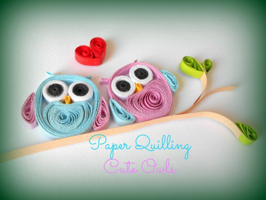 tutorial for paper quilled owls