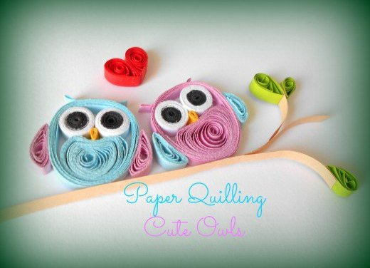 Tutorial for Cute Paper Quilled Owls